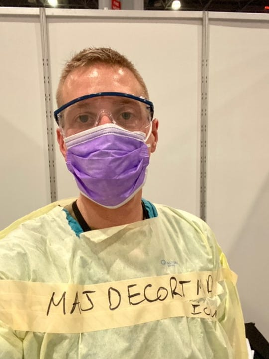 Ryan DeCort, a WellSpan Internal Medicine and Army Reserves physician, was among the first in the country to be deployed to New York City to work at an army field hospital.