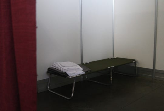 The inside of a room  for COVID-19 positive people in need of a place to quarantine. April 27, 2020.