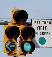 The turn signal at Texas Street.