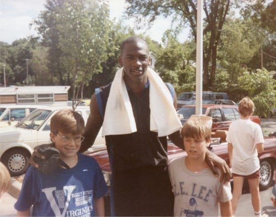 Jarrett and Brandon Hatcher got a chance to catch up with NBA Rookie of the Year Michael Jordan at the Carolina Basketball School in the summer of 1985.