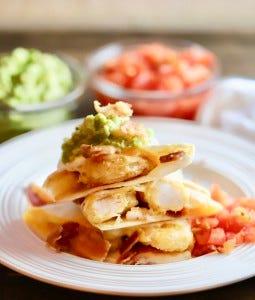 Shrimp quesadillas.