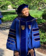 Cameasha Turner graduated from Notre Dame last school last spring