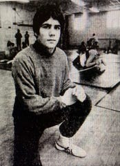 Bob Riley in the St. Mark's High wrestling room in the early 1980s.