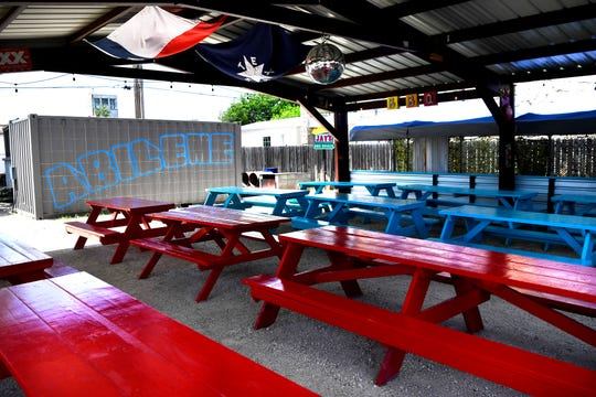 The outdoor seating at Jay's BBQ Shack Tuesday. The barbecue restaurant will reopen for lunch Friday.