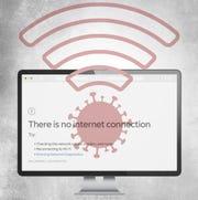 Coronavirus, COVID-19 internet illustration