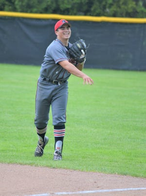 Marshall's Justin Hankey was hoping to lead his Redhawks baseball team to a third straight league title.