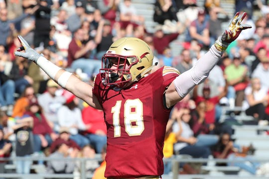 Mike Palmer, Boston College defensive back from Endwell.