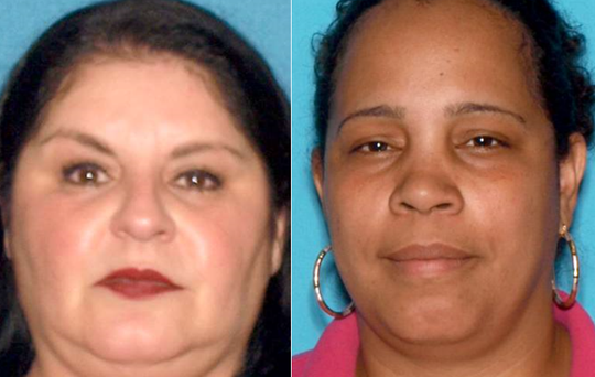 Mayra Roblero, left, of Bridgeton and Maria Betancourt of Vineland