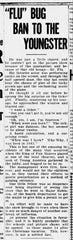 An article from Dec. 19, 1918 that speaks of the ban children were under during the Spanish influenza pandemic.
