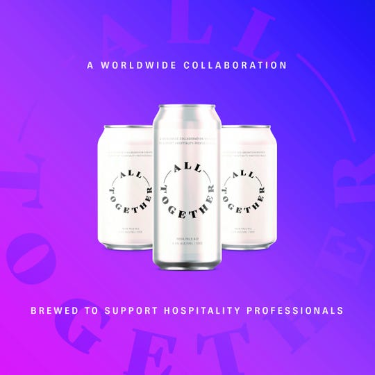 Breweries around the world are participating in the All Together beer collaboration to support hospitality professionals.