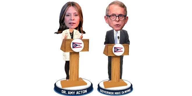 Ohio Gov. Mike DeWine and Dr. Amy Acton now have their own bobbleheads available for purchase.
