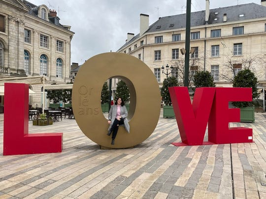 Madison Morgan, an APSU student studying abroad in France.