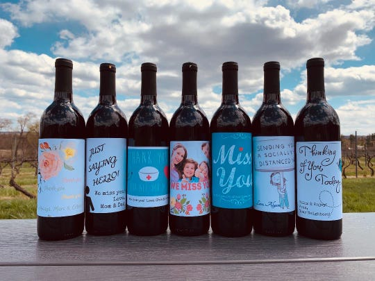 Old York Cellars is offering customized wine labels.