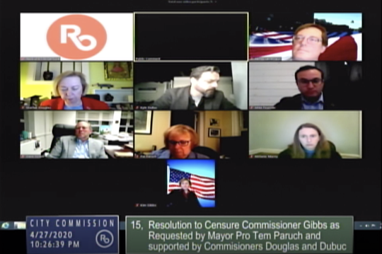 The Royal City Commission meet via a Zoom meeting on Monday, April 27, 2020.