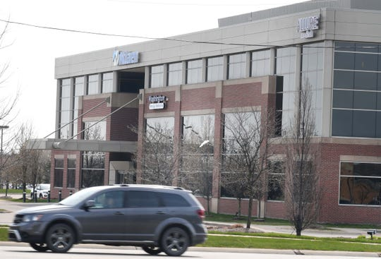 Allure Medical on 26 Mile road in Shelby Township, Michigan on April 28, 2020.