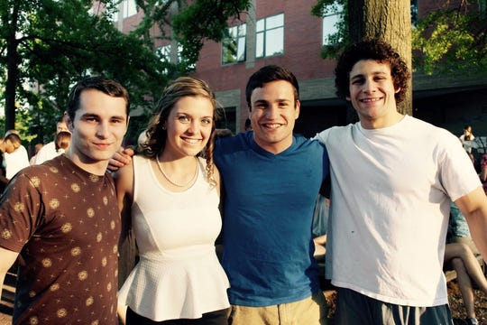 Horseheads' Dan Manganaro, far right, with friends, from left, Chris Donaldson, Rachel Evans and Alex Kramer.