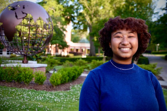 Imani Skipwith is the first recipient of the Angie Thomas Writers Scholarship at Belhaven University.