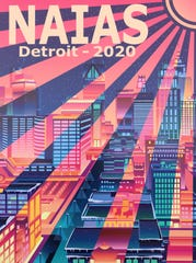 This design by Howell High School junior Kirsten Smith took first place in Best Use of Color in the North American International Auto Show poster contest.
