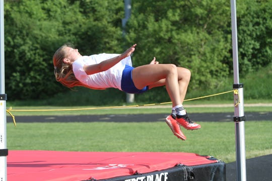 Paige Gallentine of Charyl Stockwell qualified for the state Division 4 meet in the high jump twice.