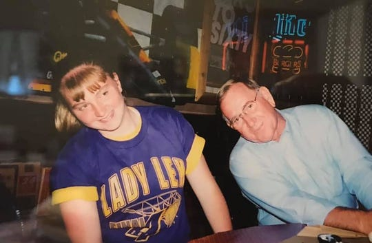 Jessica Brokaw shares a fun moment with her grandfather, Jerry Widder. He passed away on April 24, leaving behind a lasting impression on the now Lexington girls basketball coach.