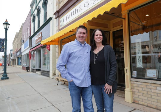 Wendy Smith and her husband Jason Wix own the Faith & Giggles gift shop on Main Street in Hartford. They have done all sorts of creative things with their business, including delivery and curbside pickup, and are managing to stay afloat. They are concerned and worried about neighboring businesses but say they would not do anything in terms of reopening that would jeopardize their health or the health of their customers.