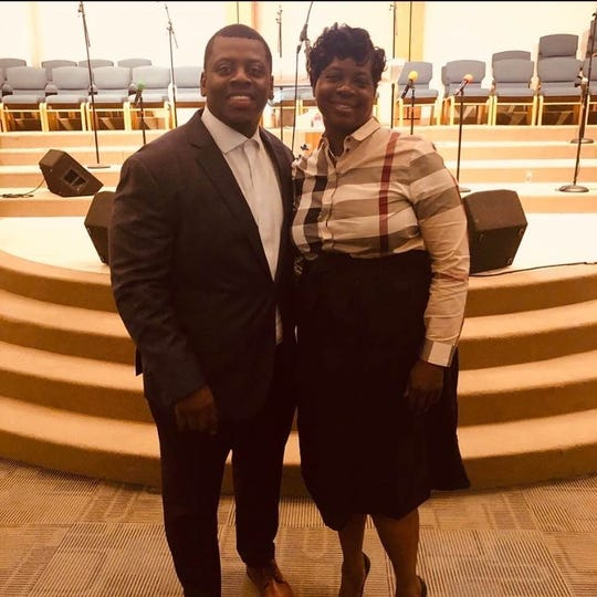 Rev. Marcus Allen and his mom, Gloria