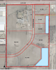 Cedarburg's proposed industrial park on Highway 60 is divided into seven lots on this site plan. City officials are negotiating with a tenant interested in purchasing the 15-acre lot closest to Highway 60.