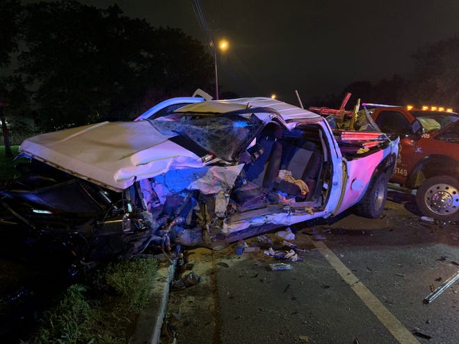 The wreck happened late Saturday night on Middle Tennessee Blvd and Samsonite Drive.
