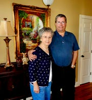 Metro Council Member Steve Glover and his mom, Sue, on Mother's Day 2013 when Glover went to Huntsville, Ala., to cook her lunch.