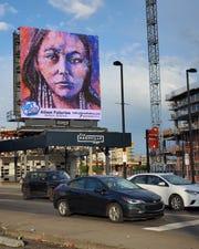 "Alison Fullerton, ""Native Women Warriors: Lozen,"" encaustic wax painting on birch panel."