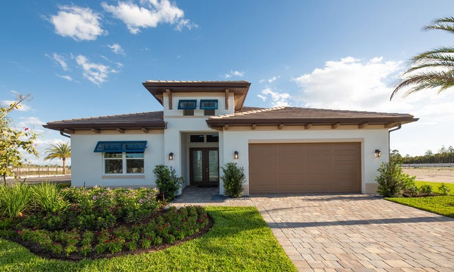 The Cedar Key model at Sapphire Cove, a new residential community being developed by FL Star, is a contemporary open design.