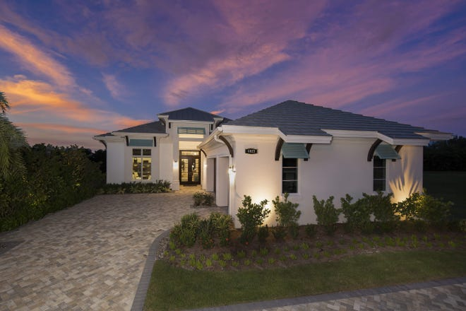 Seagate Development Group's furnished Sea Breeze I model designed by RG Designs is one of two models available at Windward Isle.  The Sea Breeze I was named recipient of the Parade of Homes Overall Excellence in Construction and Design award.