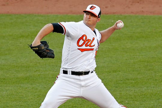 Baltimore Orioles relief pitcher Zack Britton at Oriole Park at Camden Yards.