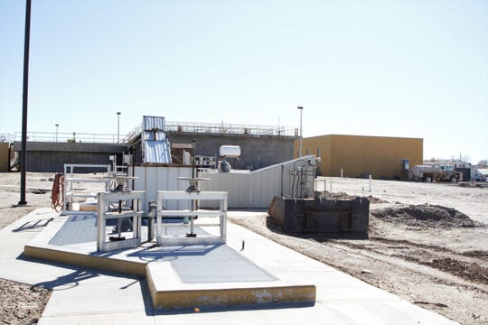 The headworks at the water reclamation facility are pictured in February in Bloomfield.