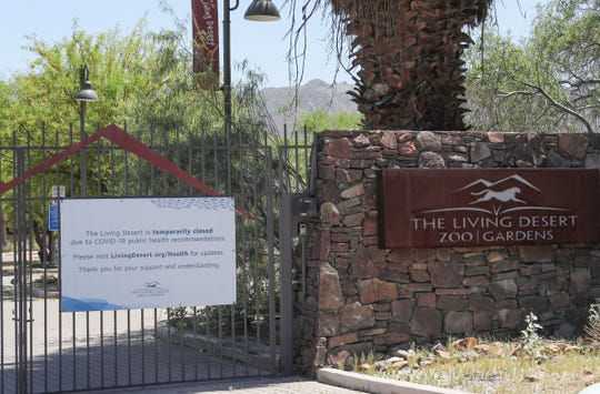 The Living Desert is closed because of Covid-19 in Palm Desert, April 28, 2020.