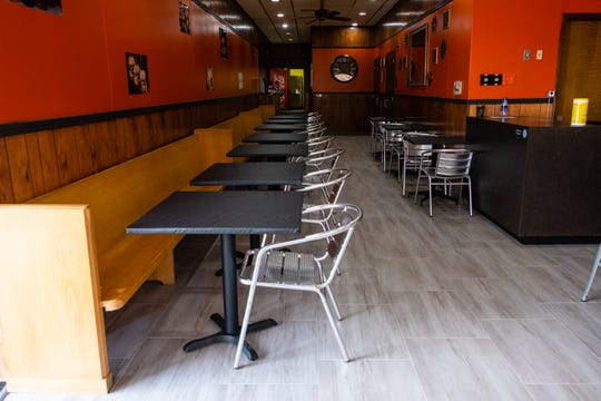 The dining room in 7th Street Slider Bar at 706 Lapeer Ave. Zac Meldrum, the restaurant's owner, hopes to open the restaurant as soon as possible but is waiting on inspections by the city of Port Huron and the St. Clair County Health Department.