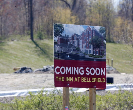 The construction site of Bellefield in Hyde Park on April 28, 2020.