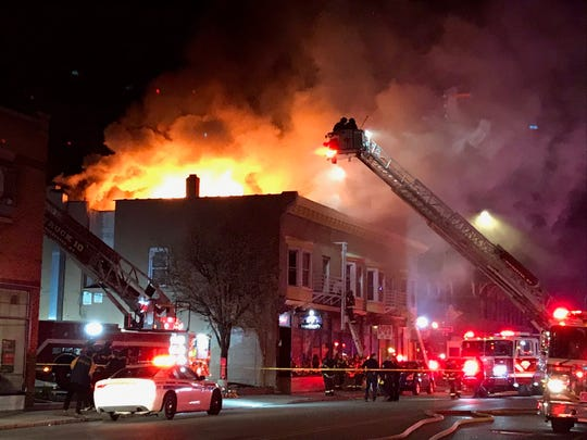 An overnight fire at 649 Monroe Ave. has rendered the building uninhabitable.