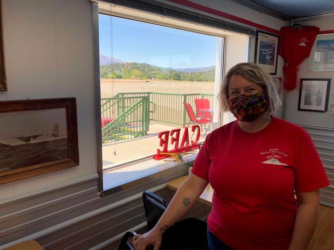 Co-owner Cecee Hirsh at the Airpark Cafe at Benton Airport.