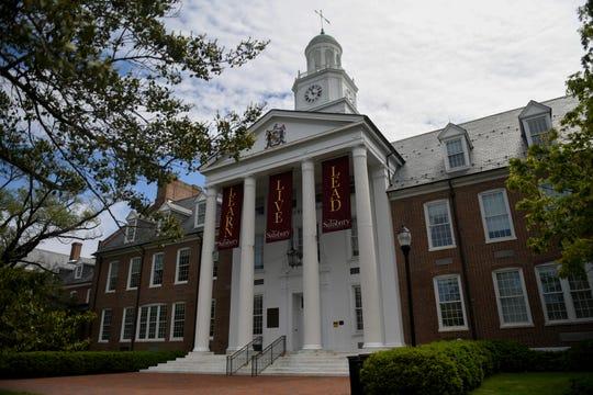 Holloway Hall of Salisbury University, in Salisbury, Maryland, pictured on April 24, 2020.