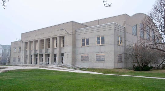 An exterior view of the Sheboygan Armory as seen from the northeast side, Tuesday, April 28, 2020, in Sheboygan, Wis.