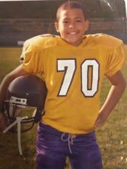 Austin Edwards played youth football in Waynesboro before moving to Texas.