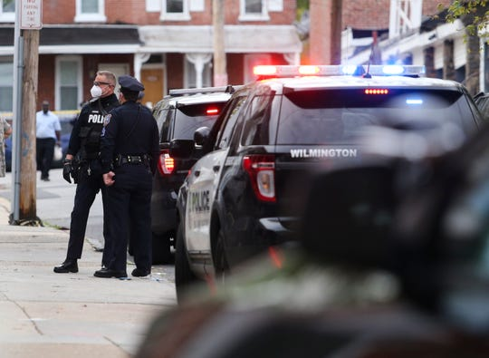 Wilmington police investigate a shooting reported on Ashton Street between Tatnall and West Streets in Wilmington, reported shortly after 5 p.m. Tuesday.