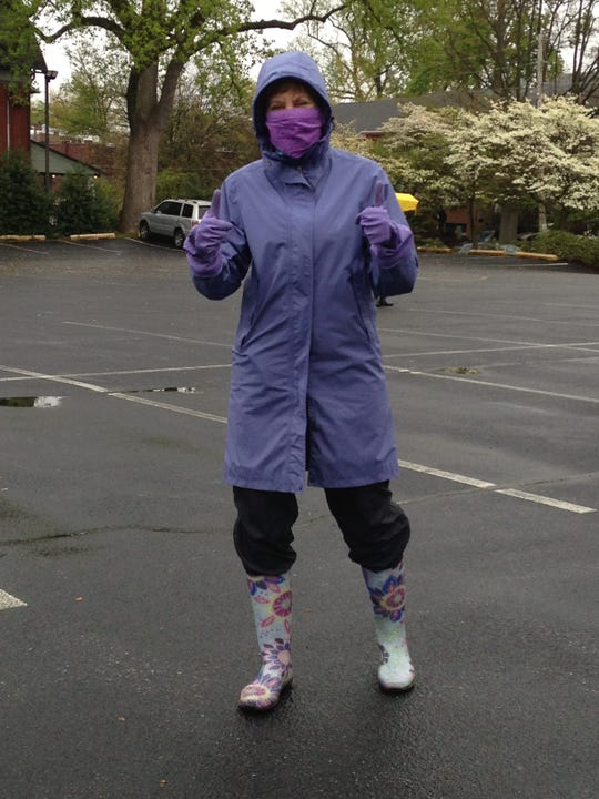 Louise Eliason has helped to organize food donations during the coronavirus pandemic.