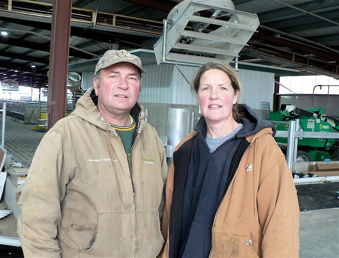 Duane and Tina Hinchley  hope the rescheduled Dane county Farm Breakfast at their dairy  is a go.