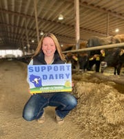 Following the lead of other FFA chapters around the state, Whitewater FFA Vice President Elizabeth Katzman felt compelled to bring the idea to Whitewater where the proceeds from the sale of the signs along with donations would be used to purchase Wisconsin cheese and other dairy products for area food pantries.