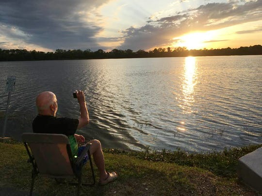 Sleet started the Facebook group,Cenla Sunset Photographers Club, where sunset enthusiasts can share their photos with each other. Some take photos at Lake Buhlow while others have their own favorite locations.