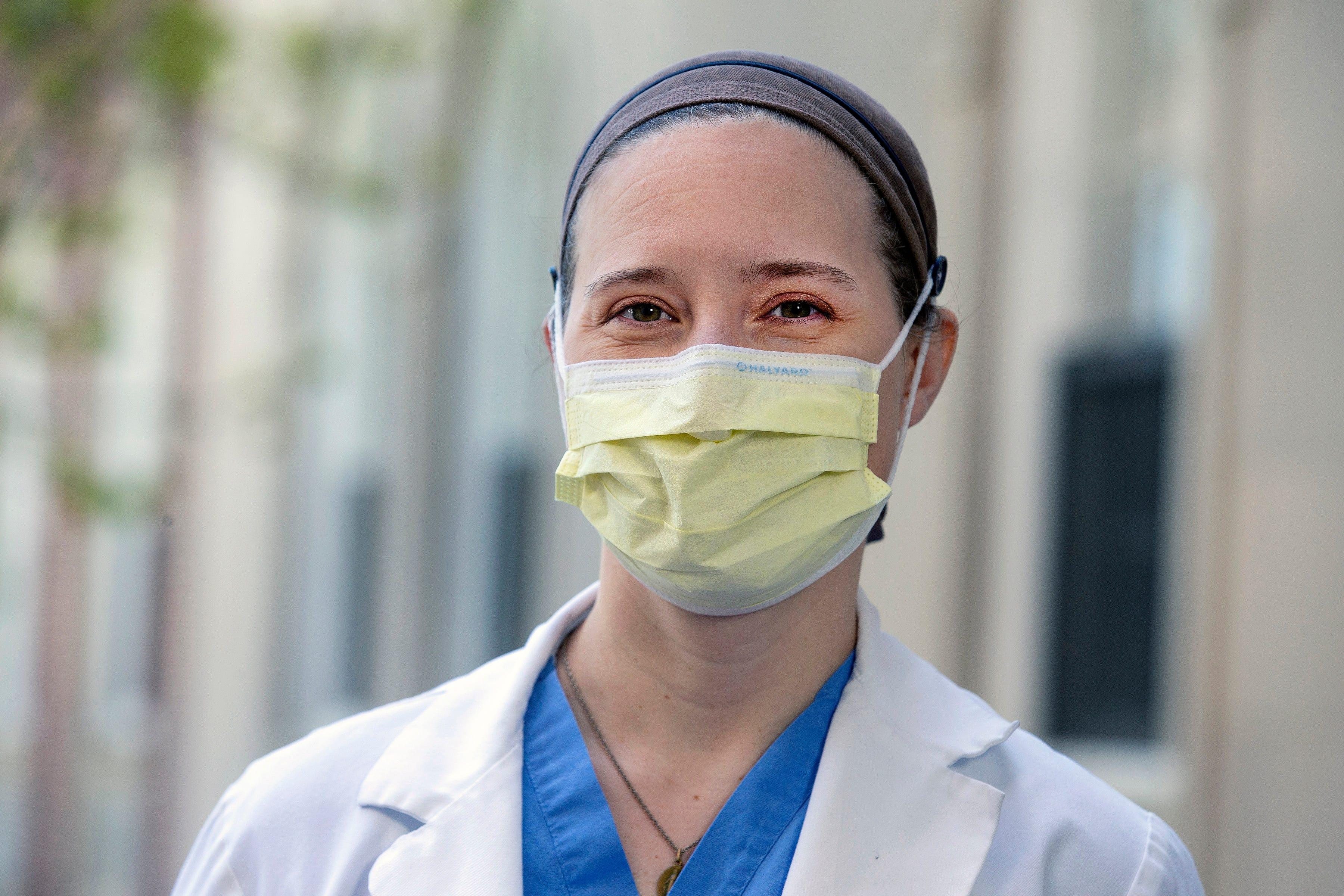 Dr. Violet Kramer, assistant director of ICU, Monmouth Medical Center