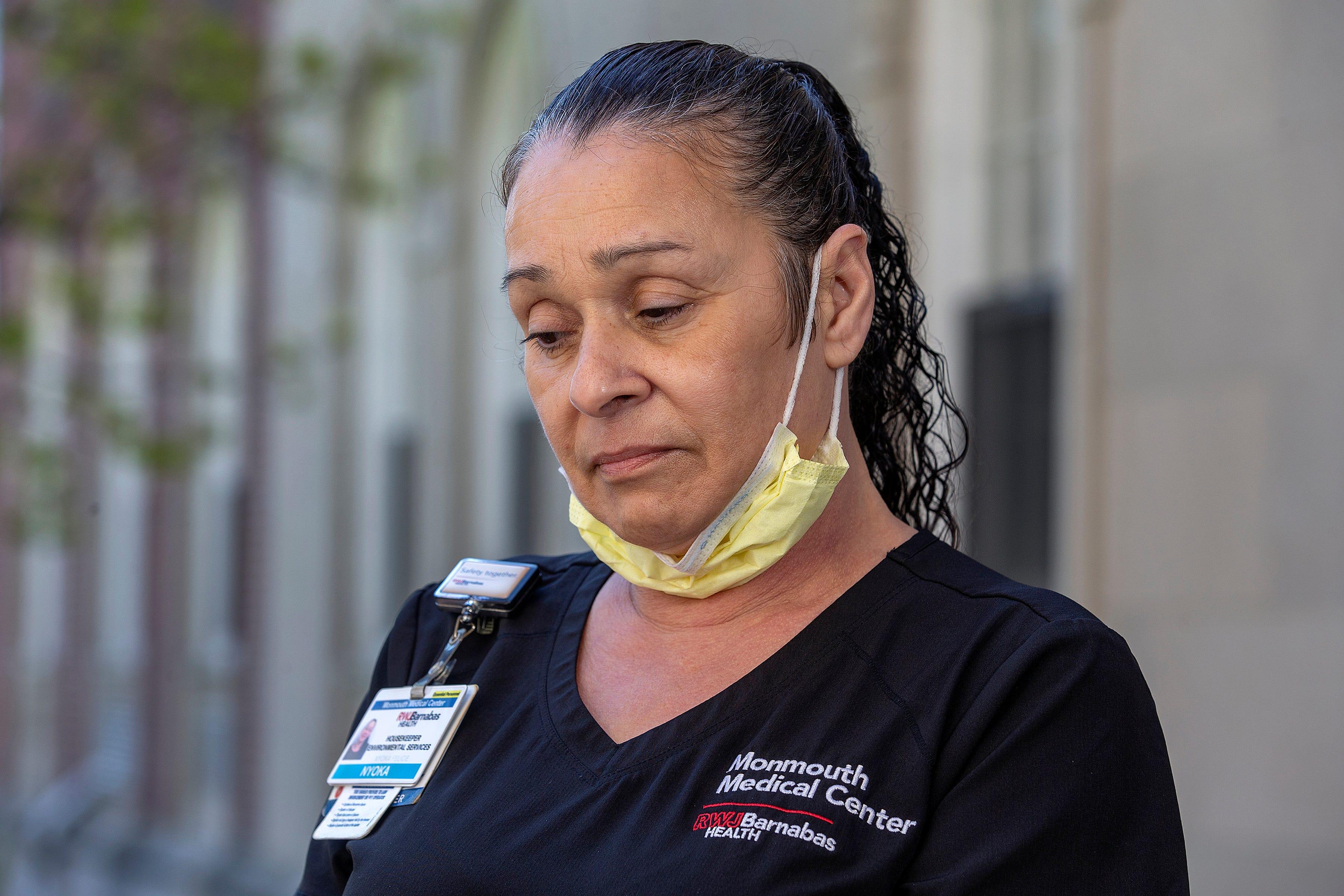 Nyoka Felicie, housekeeper, Monmouth Medical Center