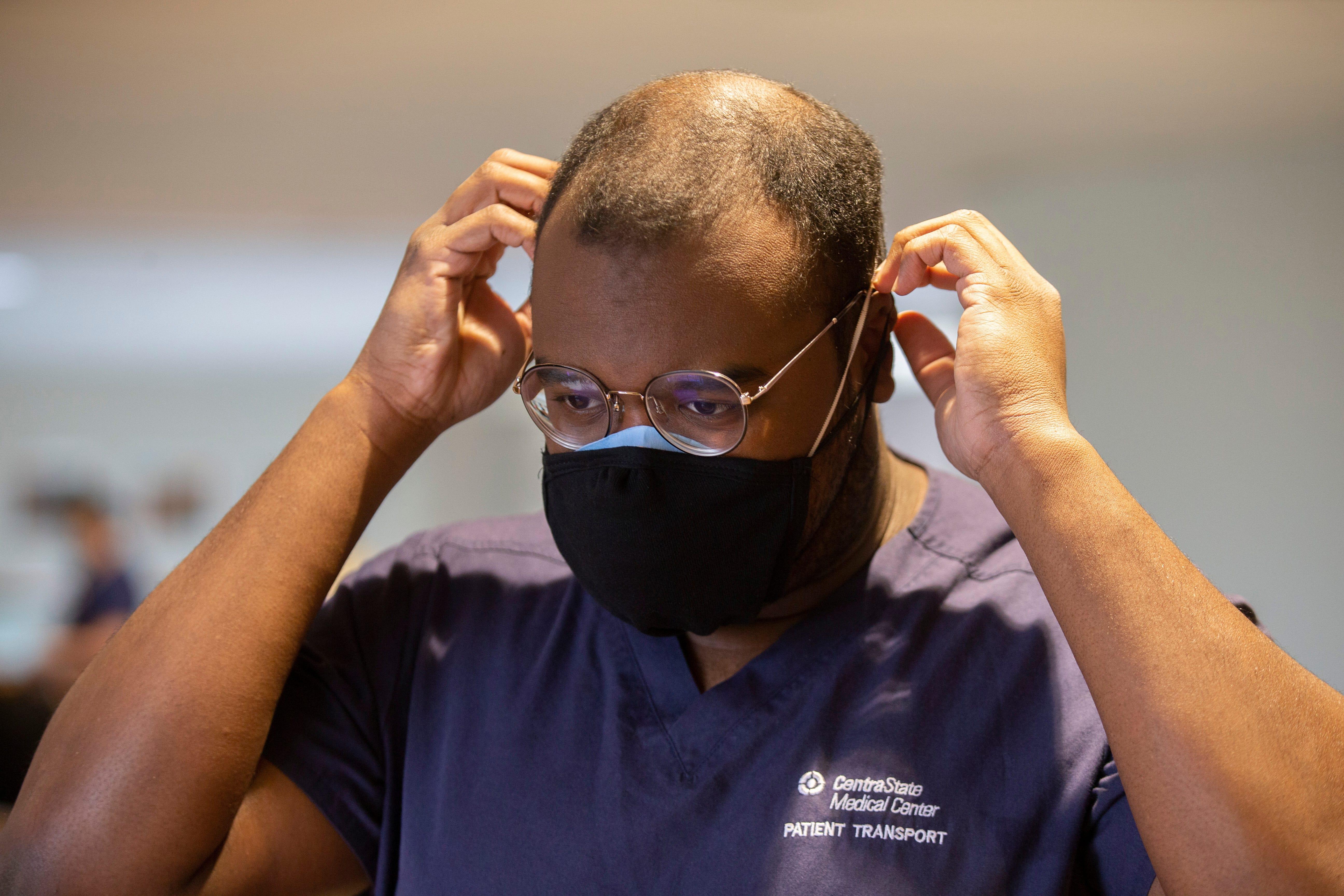 Drew Barkley, patient transport, CentraState Medical Center